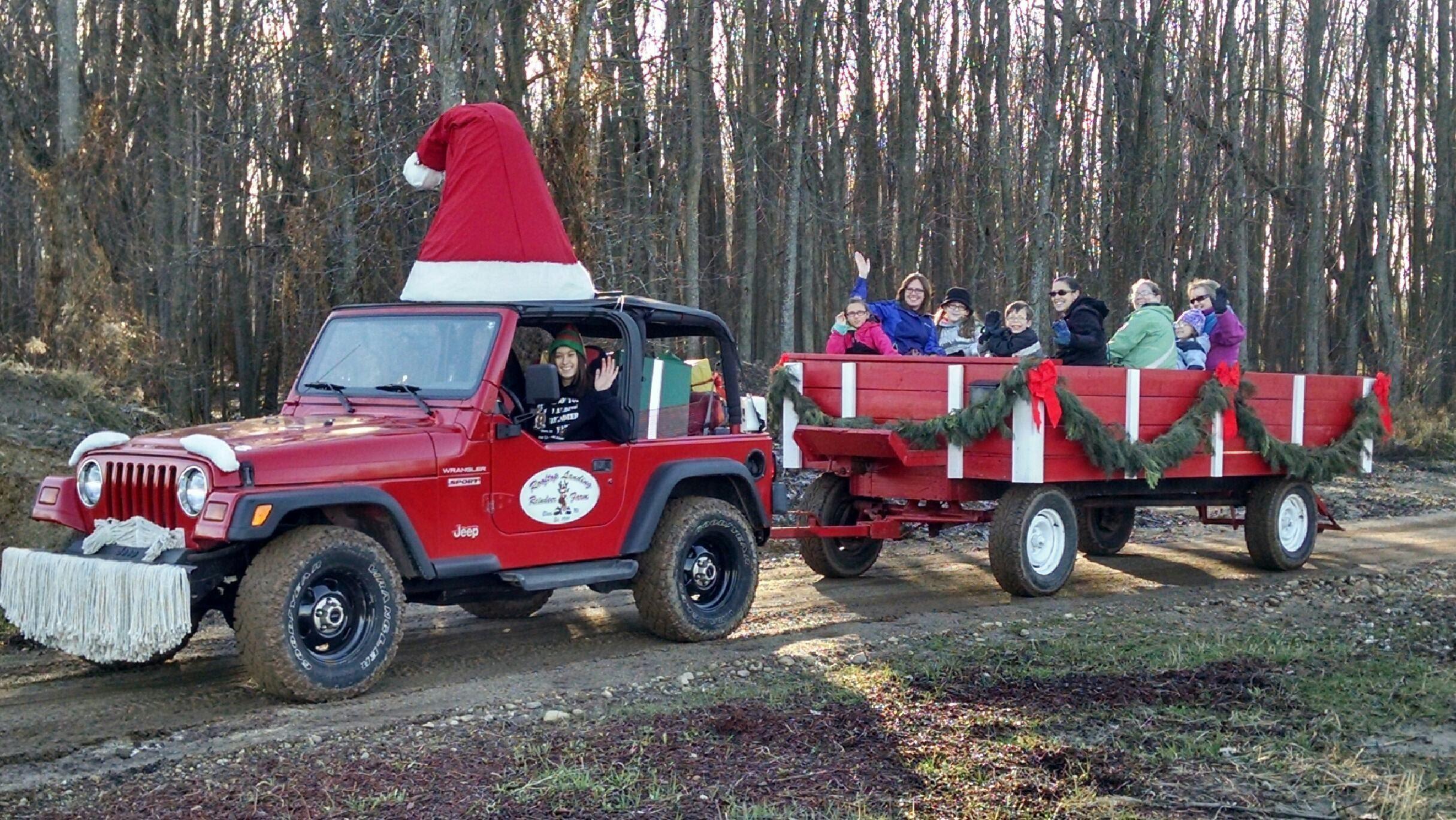 Santa Jeep Pulled Wagon Rides